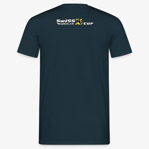 swiss4crosscupmithomepageweiss - Männer T-Shirt