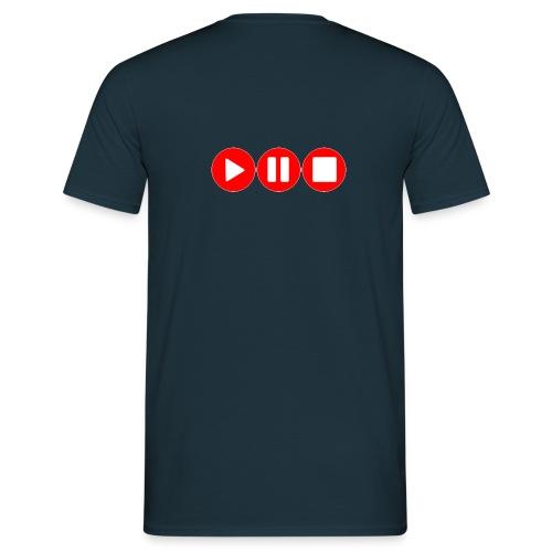 Play Pause Stop - Männer T-Shirt
