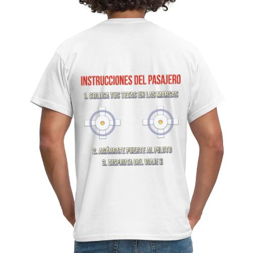 Instrucciones Pasajero - Camiseta hombre