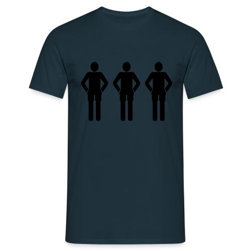 3schwarz - Männer T-Shirt