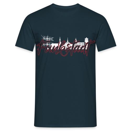 Funkstadt Nauen white / red - Männer T-Shirt