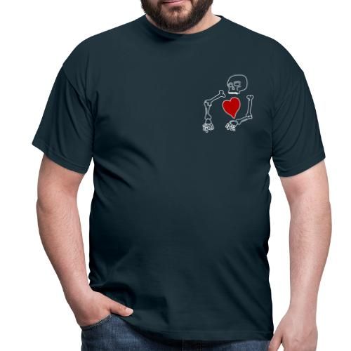 skeleton boi, good heart - Men's T-Shirt