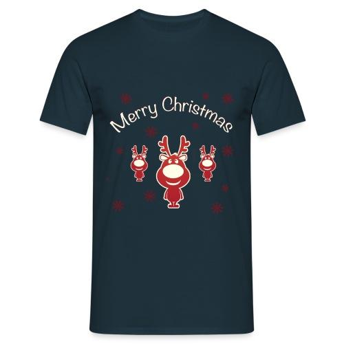 Koszulki Bożonarodzeniowe - Renifery - Koszulka męska