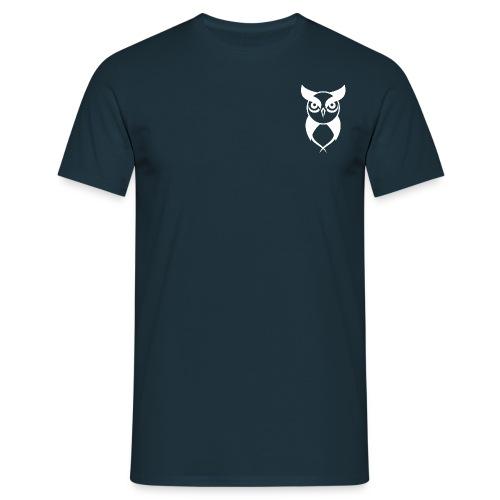 Owl logo white - Men's T-Shirt