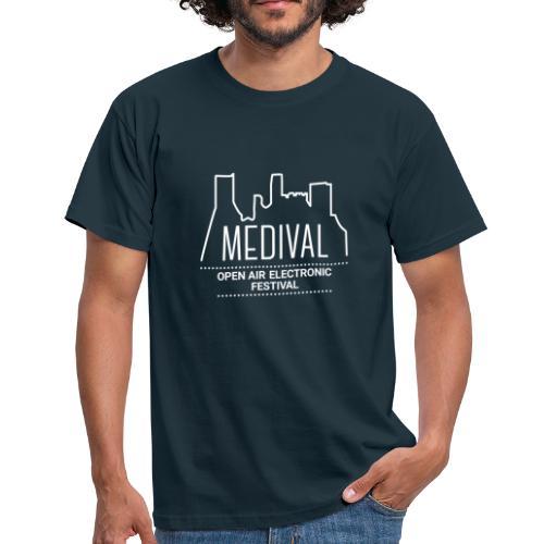 Medival Skyline weiß - Männer T-Shirt