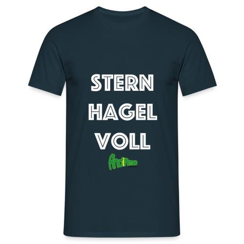 Sternhagelvoll - Vorne bedruckt - Männer T-Shirt