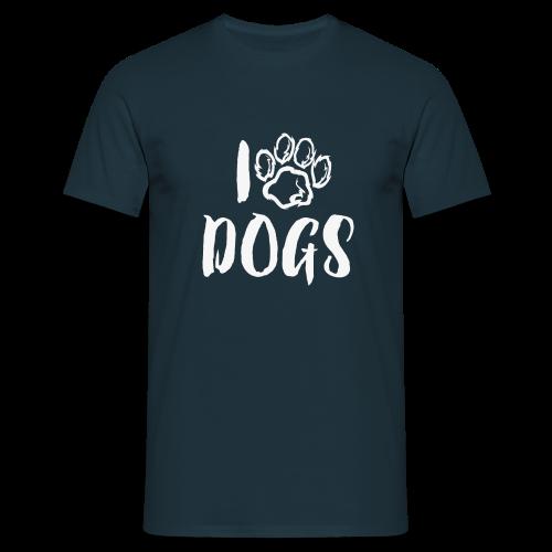 I LOVE DOGS / AMO A LOS PERROS - Camiseta hombre