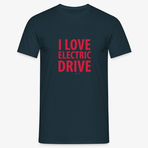 Design3 I Love electric drive - Männer T-Shirt