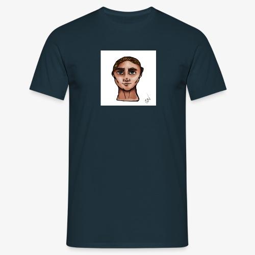 blåt - T-shirt herr