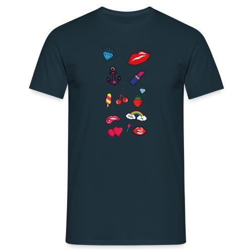 ecussons pop - T-shirt Homme