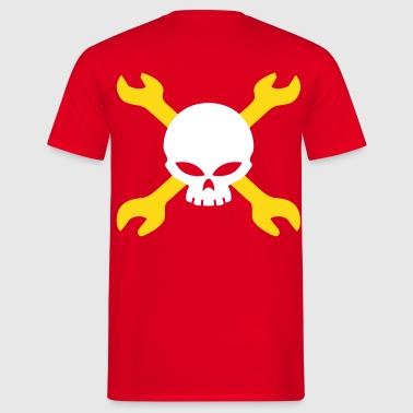 skull mechanical engineer - Männer T-Shirt