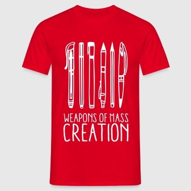 Weapons of mass creation (1c) - Männer T-Shirt