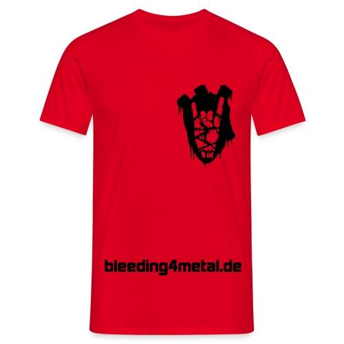 bleeding front heart - Männer T-Shirt