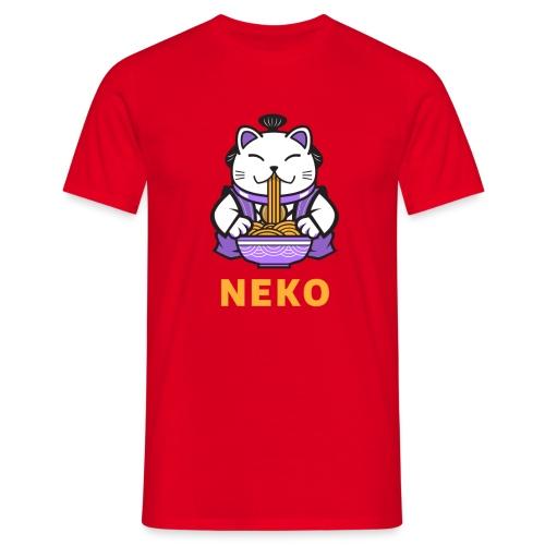 Gato Manga Anime | Neko Ramen Kawaii - Camiseta hombre