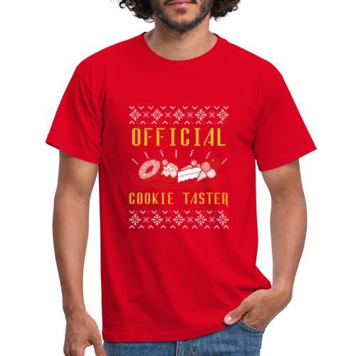 Morsom julegenser - Official cookie taster - T-skjorte for menn
