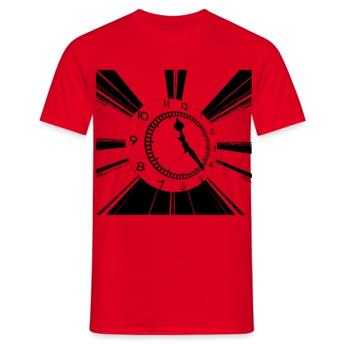 clock black - Men's T-Shirt