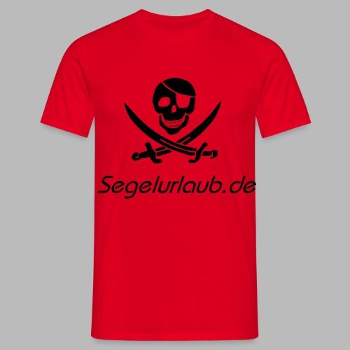 Piraten Flaggen Shirt Segelurlaub - Männer T-Shirt
