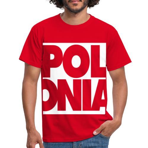 Polonia Schriftzug - Männer T-Shirt