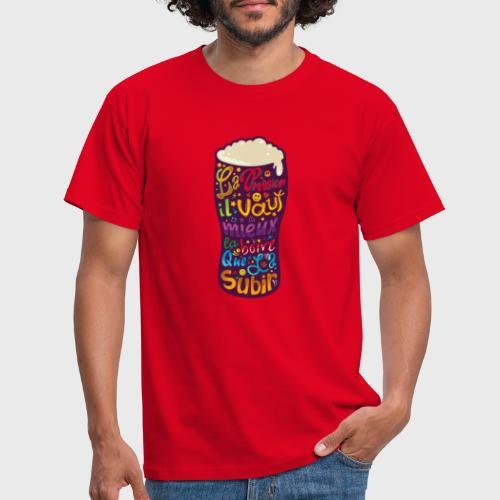 Bière pression typographies colorées - T-shirt Homme