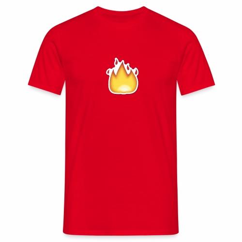 Liekkikuviollinen vaate - Miesten t-paita