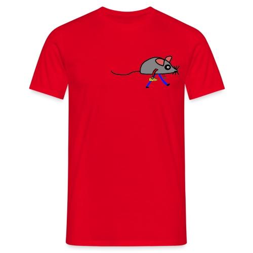 Maus mit Käse Lustiges Motiv - Männer T-Shirt