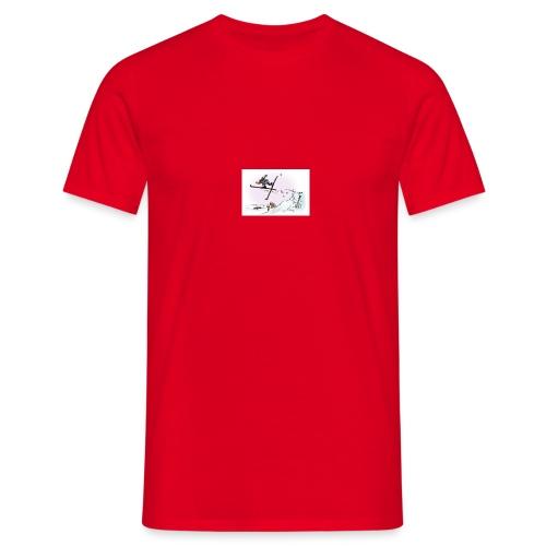 skihopp - T-skjorte for menn