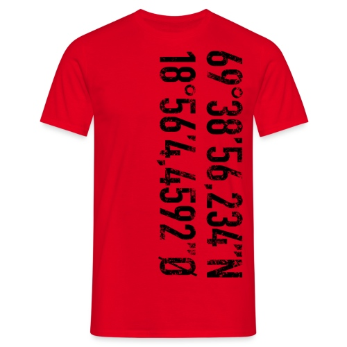 Alfheim stadion koordinater (fra Det norske plagg) - T-skjorte for menn