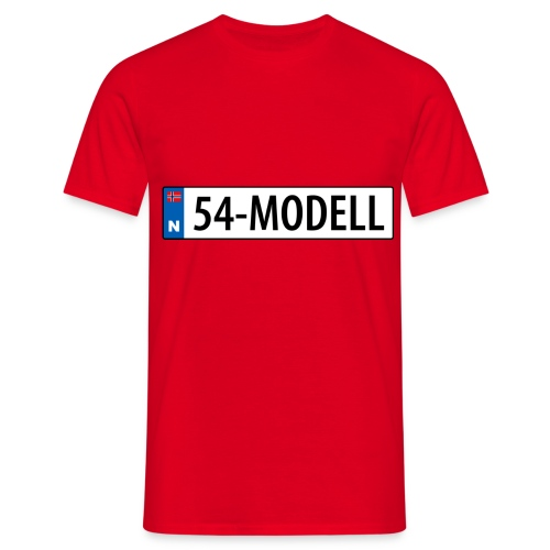 54modell - T-skjorte for menn