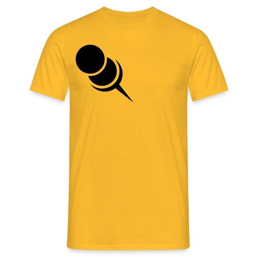 Pin Nadel Links Zwecke > hier < - Männer T-Shirt