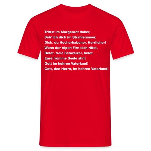 Schweizerpsalm - Männer T-Shirt