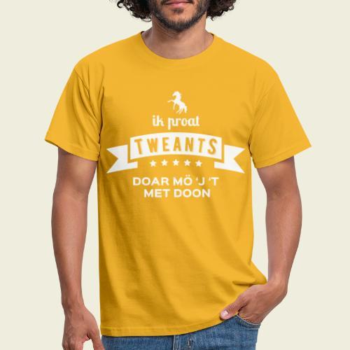 Ik proat Tweants...(lichte tekst) - Mannen T-shirt