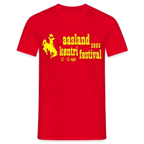 festival logo vect - T-skjorte for menn