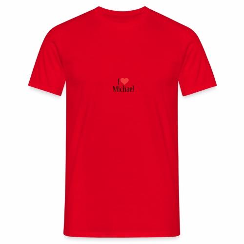 Michael designstyle i love Michael - Men's T-Shirt