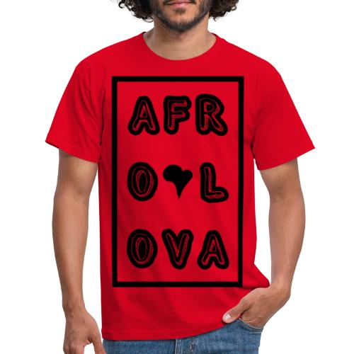 Afro Lova Rectangle - T-shirt Homme