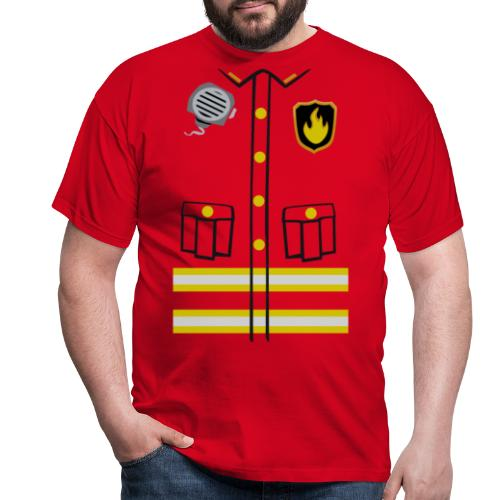 Firefighter Costume - Men's T-Shirt
