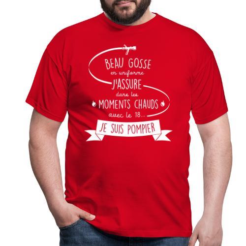 beau gosse pompier - T-shirt Homme