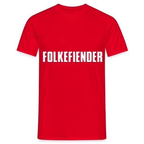 folkefiender spreadshirt 01 - T-skjorte for menn