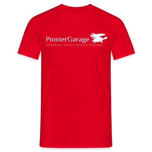 LogoMitNameUndSloganWhite png - Männer T-Shirt