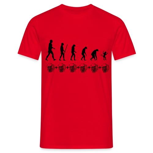 Evolution drinking - Maglietta da uomo