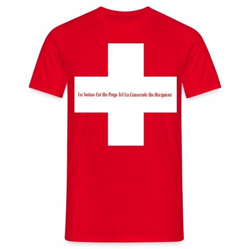 Design Super Suisse - T-shirt Homme