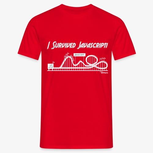 surviving javascript white gif - Men's T-Shirt