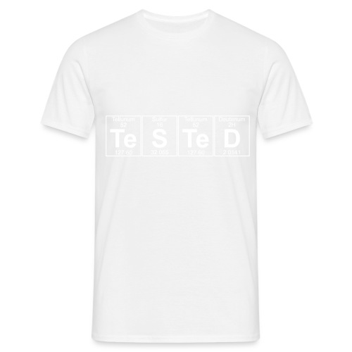 Te-S-Te-D (tested) (small) - Men's T-Shirt