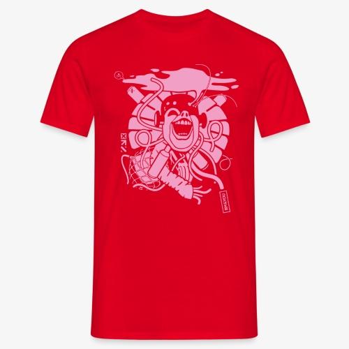 Crazy robot 2 pink 01 01 - Männer T-Shirt