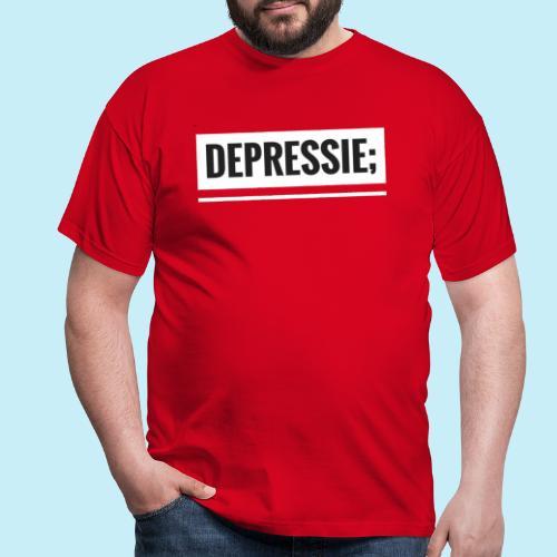 Depressie; - T-shirt Homme