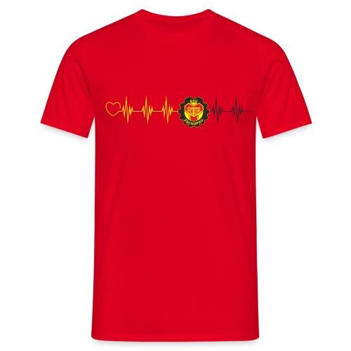 Pulslinie - Männer T-Shirt