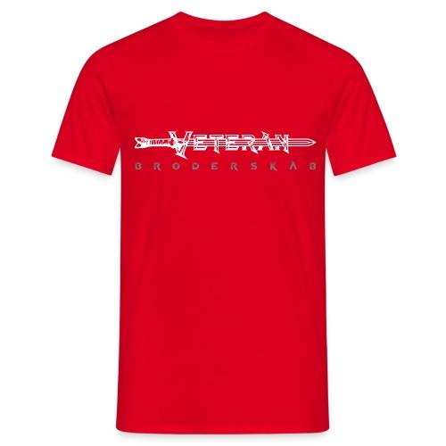 VeteranSwordBroderskab.ai - Herre-T-shirt