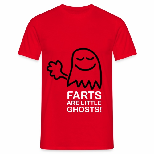 Farts are little ghosts (with text) - Men's T-Shirt