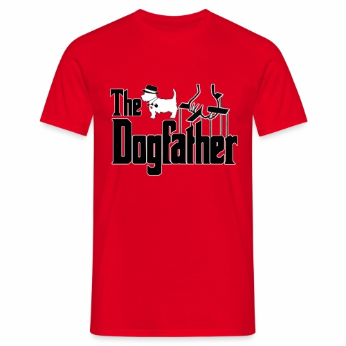 the dogfather westie edition - Men's T-Shirt