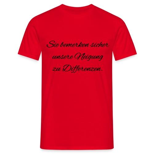 Differenzen Unstimmigkeit - Seven of Nine Spruch - Männer T-Shirt