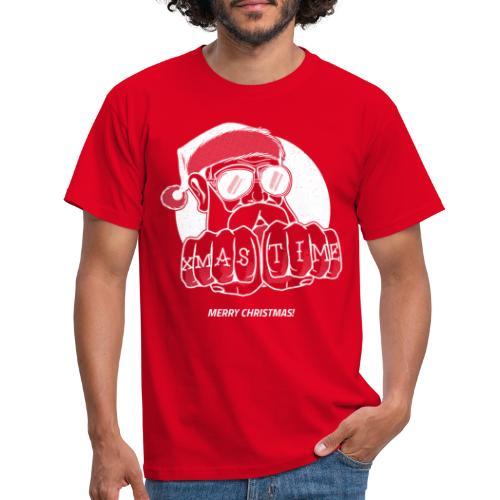 PAPY XMAS TIME BLANC - T-shirt Homme